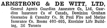 Toronto City Directory, 1918, page 466; https://archive.org/stream/torontodirec191800midiuoft#page/n465/mode/1up
