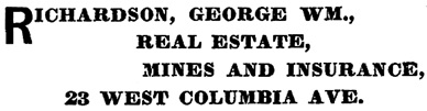 Henderson's BC Gazetteer and Directory, 1898, page 388 (Rossland)