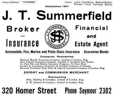 Henderson's Greater Vancouver City Directory, 1919, page 46