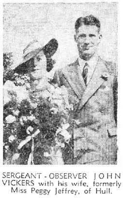 """John Vickers, """"R.A.F. Hero's Link with Hull,"""" Daily Mail (Hull, England), issue 16872, November 25, 1939, page 1."""