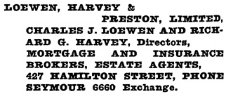 Henderson's Greater Vancouver City Directory, 1919, page 654