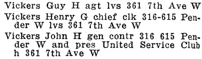 Henderson's Greater Vancouver Directory, 1911, Part 2, page 1178
