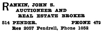Henderson's City of Vancouver Directory, 1908, page 884