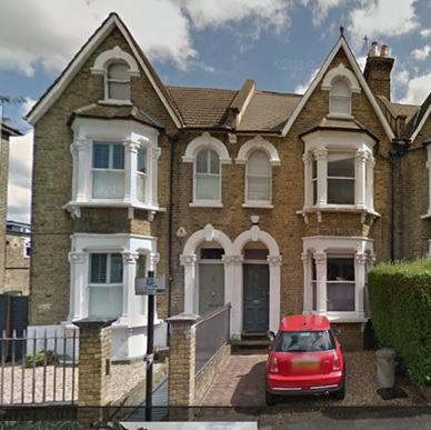 72 Shaftesbury Road, London England; Google Streets, searched: April 8, 2017; image dated June 2014 [unit on right, with red automobile in front].