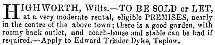 Reading Mercury, Oxford Gazette, Newbury Herald and Berks County Paper, (Reading, England), June 16, 1866; page 1.