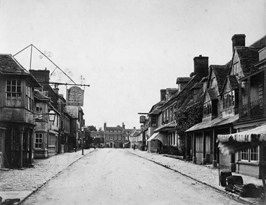 High Street, Highworth, Wiltshire, 1870-1910; Historic England Archive ref: op06730; https://historicengland.org.uk/services-skills/education/educational-images/high-street-highworth-wiltshire-op06730.