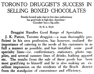 The Retail Druggist of Canada, October 1921, volume 8, number 9, page 21; [selected portions], https://archive.org/stream/retaildruggistof810torouoft#page/21/mode/1up.
