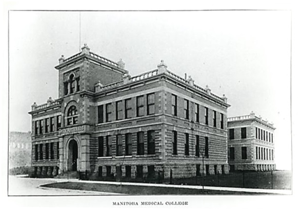 Manitoba Medical College, about 1910, http://medheritage.lib.umanitoba.ca/wp-content/uploads/2015/11/mb_med_college_003.jpg.