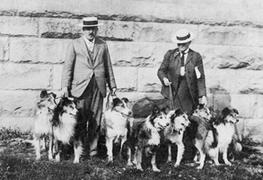 Mr. E.R. Ricketts and Miss Leigh-Spencer walking their collies, early 1900s; Vancouver City Archives, CVA 371-1803; http://searcharchives.vancouver.ca/mr-e-r-ricketts-and-miss-leigh-spencer-walking-their-collies.