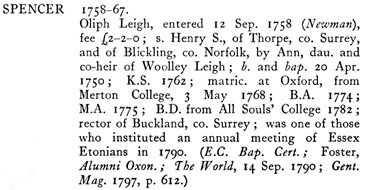 The Eton College Register, 1753-1790, by Richard Arthur Austin-Leigh; Eton, Spottiswoode, Ballantyne and Company, 1921, page 489; https://archive.org/stream/etoncollegeregis00austuoft#page/489/mode/1up.