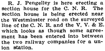 Chilliwack Progress, November 2, 1910, pages 2 and 5; https://theprogress.newspapers.com/image/43188627/?terms=pengelley; https://theprogress.newspapers.com/image/43188633/?terms=pengelley.