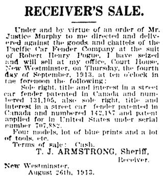 The New Westminster News, August 29, 1913, page 6, https://open.library.ubc.ca/collections/bcnewspapers/nwdn/items/1.0315933#p5z-1r0f:
