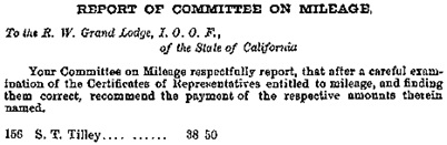 Journal of Proceedings of the Grand Lodge of California, Volume 26, 1878, Grand Lodge of California, pages 967-969 [selected portions]; https://books.google.ca/books?id=l_JFAQAAMAAJ&pg=PA969&lpg=PA969&dq=%22s+t+tilley%22#v=onepage&q=%22s%20t%20tilley%22&f=false.