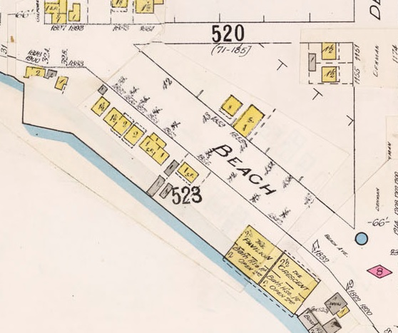 1800 Block Beach Avenue - Insurance plan - City of Vancouver, July 1897, revised June 1903 - Sheet 45 - Comox Street to English Bay and Bidwell Street to Stanley Park.