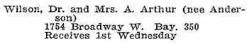 Vancouver Social Register and Club Directory, 1914, page 73.