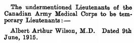 The London Gazette, Publication date: 6 July 1915 Supplement: 29223, Page: 6685; https://www.thegazette.co.uk/London/issue/29223/supplement/6685.