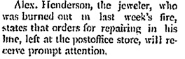 """Alex. Henderson, """"The Local Grist,"""" The Phoenix Pioneer, January 26, 1901, page 4, column 2; https://open.library.ubc.ca/collections/bcnewspapers/xphoenix/items/1.0185659#p3z2r0f:"""