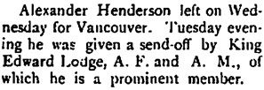 "Alexander Henderson, ""The Local Grist,"" The Phoenix Pioneer, November 23, 1901, page 4, column 2; https://open.library.ubc.ca/collections/bcnewspapers/xphoenix/items/1.0186321#p3z2r0f:"