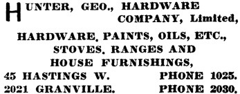 Henderson's City of Vancouver Directory, 1907, page 519.