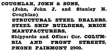 Henderson's Greater Vancouver City Directory, 1919, page 468.