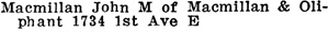 Henderson's Greater Vancouver Directory, 1911, Part 1, page 903.