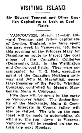 Victoria Daily Colonist, March 24, 1911, page 2, column 4; http://archive.org/stream/dailycolonist53401uvic#page/n1/mode/1up.