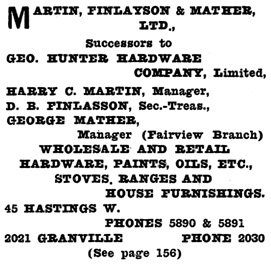 Henderson's City of Vancouver and North Vancouver Directory, 1910, Part 2, page 960.
