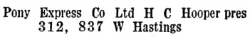Wrigley's British Columbia Directory, 1928, page 1362.