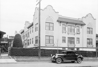 Sandringham Apartments at 1853 Nelson Street, 1927; Vancouver City Archives, Bu N257; http://searcharchives.vancouver.ca/sandringham-apartments-at-1853-nelson-street.