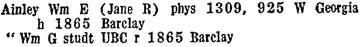 BC and Yukon Directory, 1935, page 826.