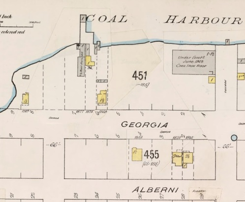 1800 Block Georgia Street - detail from Insurance plan of the city of Vancouver - British Columbia - July 1897 - revised June 1903 - sheet 43; http://data2.archives.ca/e/e427/e010674745-v8.jpg.