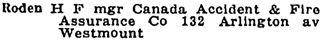 Montreal alphabetical directory, 1927-1928, page 1370.