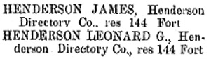 Henderson's BC Gazetteer and Directory, 1891, page 646 (Victoria).