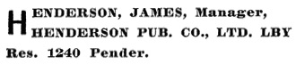Henderson's BC Gazetteer and Directory, 1902, page 674 (Vancouver).