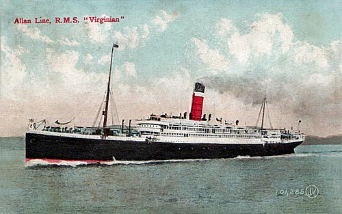 R.M.S. Virginian, Margaret Sanger Papers Project, https://sangerpapers.wordpress.com/2013/09/10/bertha-watson-slept-here-the-r-m-s-virginian/.