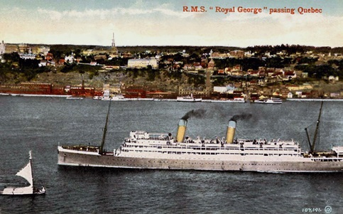 "RMS ""Royal George"" on the St. Lawrence River; http://www.playle.com/listing.php?i=AHA27993."