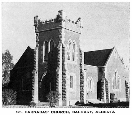 St. Barnabas' Church (Calgary, Alberta). 50th anniversary: St. Barnabas' Church, 1906-1956. [Calgary: St. Barnabas' Church, 1956]; http://peel.library.ualberta.ca/bibliography/10310/5.html.
