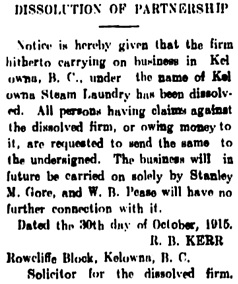 Kelowna Record, December 2, 1915, page 6; column 1; https://open.library.ubc.ca/collections/bcnewspapers/xkelownarec/items/1.0180692#p5z-1r0f: