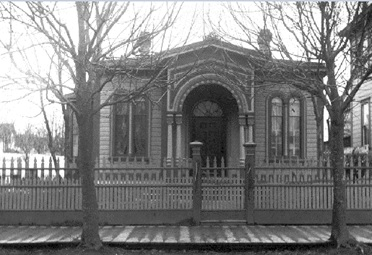 The residence of Mr. and Mrs. M.W. Waitt on Quadra Street near Herald; Georgina Seymour Waitt, later Mrs. Herbert Kent, and her sister Janet Hibben, later Mrs. Leonard George Henderson; about 1890; BC Archives I-76875; http://essondale.blogspot.ca/2014/01/the-essondale-fleet.html.