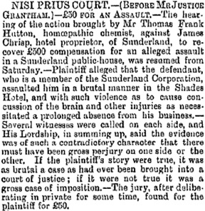 Northern Echo (Darlington, England), issue 6247, March 4, 1890, page 4.