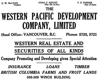 Henderson's City of Vancouver and North Vancouver Directory, 1910, Part 1, page 85.