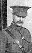 """A. Rowan, April 25, 1908, detail from """"G"""" Company 6th Regiment, D.C.O.R. Vancouver, B.C. Vancouver City Archives, VLP 76.4; http://searcharchives.vancouver.ca/group-portrait-of-g-company-6th-reg-iment-d-c-o-r-vancouver-b-c."""