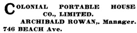 Henderson's City of Vancouver Directory, 1906, page 287.