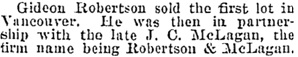 Victoria Daily Colonist, November 11, 1903, page 2, column 1; http://archive.org/stream/dailycolonist19031011uvic/19031011#page/n1/mode/1up.