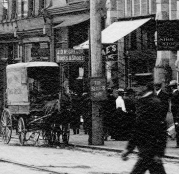 J.D. McGregor, Boots and Shoes, about 1902, detail from 100 block West Cordova Street looking East, Vancouver City Archives; CVA 2 – 143; http://searcharchives.vancouver.ca/100-block-west-cordova-street-looking-east-vancouver-b-c.