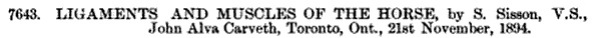Canadian Patent Office Record, Volume 22; November 1894, page 880; https://books.google.ca/books?id=uLlQAAAAYAAJ&pg=PA880&lpg=PA880&dq=%22john+alva+carveth%22#v=onepage&q=%22john%20alva%20carveth%22&f=false.