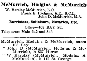 Toronto City Directory, 1905, page 676; https://archive.org/stream/torontodirec190500midiuoft#page/676/mode/1up.