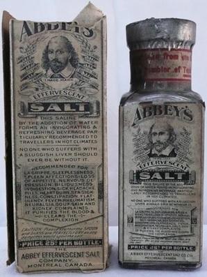 Abbey Effervescent Salt Company, http://bouteillesduquebec.ca/medicaments_brevetes/abbey_salt.htm; http://bouteillesduquebec.ca/images/Medicaments/abbey_salt2.JPG.