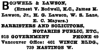 Henderson's Greater Victoria City Directory, 1914, page 303.