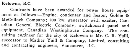 Current News and Notes, The Electrical News, volume 23, number 14, July 15, 1914, page 62; https://archive.org/stream/electricalnews1914p2#page/n147/mode/1up.
